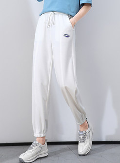 Casual High Waisted Drawstring Joggers