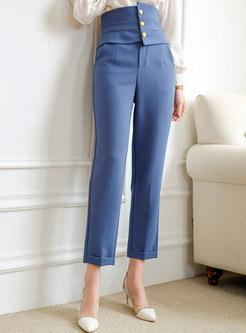 Brief High Waisted Straight Dress Pants