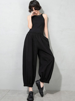 High Waisted Plus Size Straight Pants