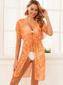 Halter Print Cover-up Beach Swimwear