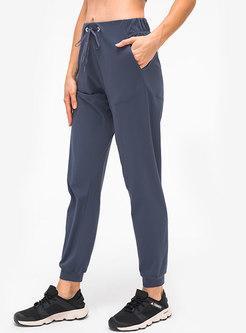 High Waisted Drawstring Stretchy Yoga Pants