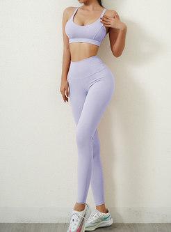 Sexy Tight Sports Bra & High Waisted Yoga Pants