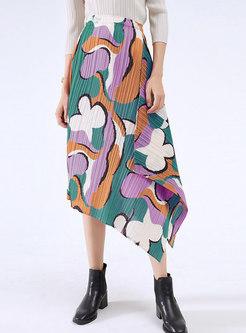 Chic Multi Irregular Pleated Skirt
