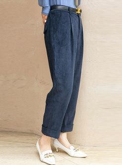 Retro High Waisted Straight Pants