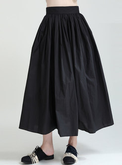 Brief High Waisted A Line Maxi Skirt