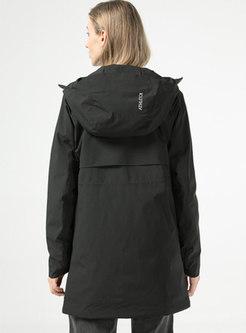 Hooded Long Sleeve Cotton-padded Jacket
