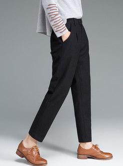 High Waisted Wool Harem Pants