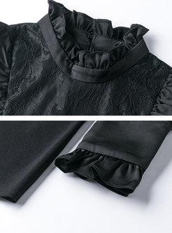 Turtleneck Long Sleeve Pullover Sweater Tee