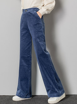 High Waisted Wide Leg Corduroy Pants