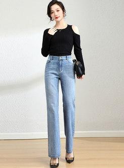 High Waisted Bell Bottom Jeans