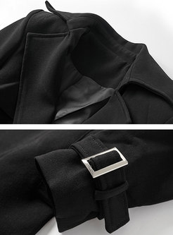 Double-breasted Belted Long Trench Coat