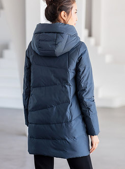 Hooded Plus Size Duck Down Puffer Coat