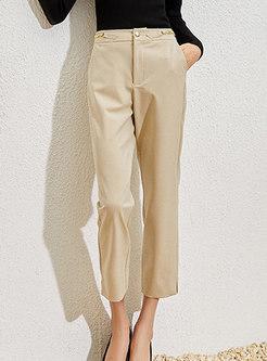 High Waisted Straight Work Dress Pants