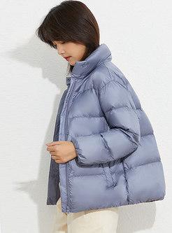 Brief Mock Neck Lightweight Puffer Jacket