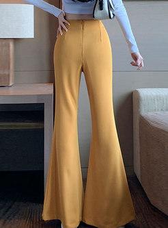 High Waisted Long Flare Pants