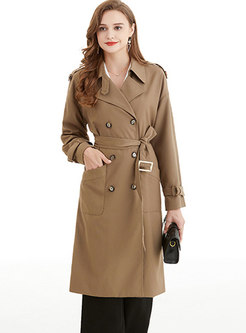 Double-breasted Classic Mid-length Trench Coat