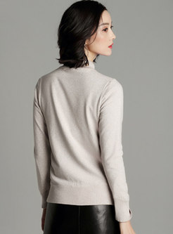 Turtleneck Long Sleeve Pullover Thicken Sweater