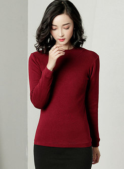 Long Sleeve Pullover Thicken Slim Sweater