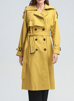 Double-breasted Belted Mid-length Trench Coat