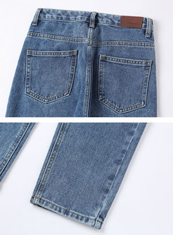High Waisted Light Blue Pencil Jeans