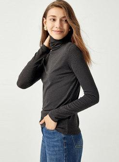 Turtleneck Pullover Long Sleeve Slim Sweater
