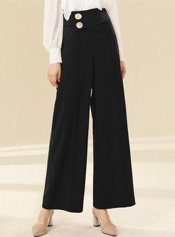 Brief High Waisted Wide Leg Dress Pants
