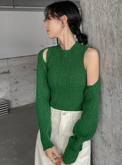 Pullover Vest & Long Sleeve Sweater Cardigan