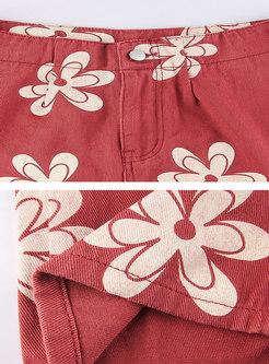 Stylish Low Rise Print Wide Leg Pants