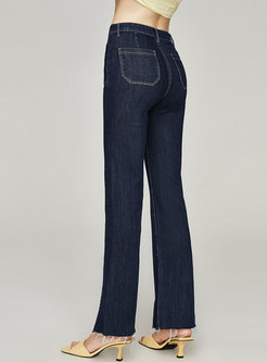 High Waisted Straight Casual Flare Pants