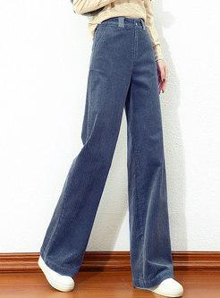 High Waisted Corduroy Wide Leg Pants