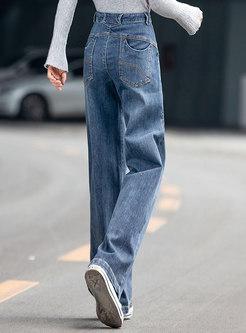 Plus Size Long Wide Leg Jeans